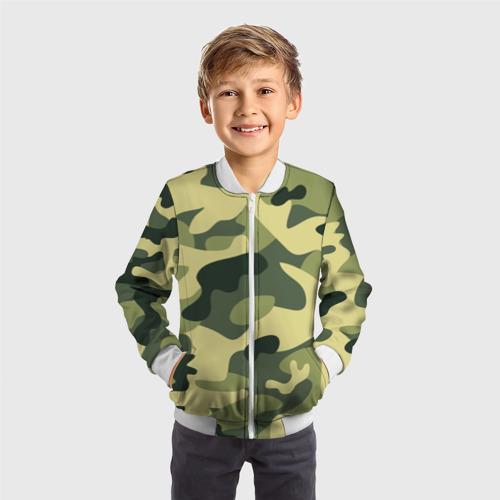 Детский бомбер 3D  Фото 05, Зелёный камуфляж