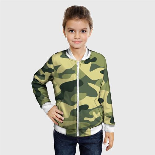 Детский бомбер 3D  Фото 06, Зелёный камуфляж