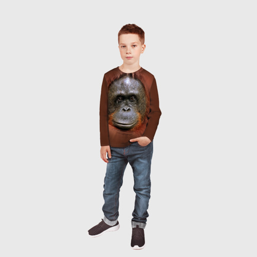 Детский лонгслив 3D Обезьяна Фото 01