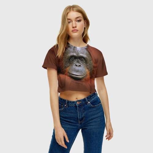 Женская футболка Cropp-top Обезьяна Фото 01