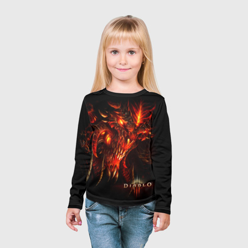 Детский лонгслив 3D  Фото 03, Diablo