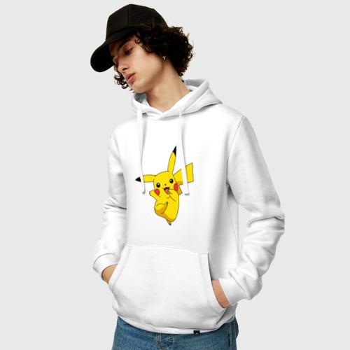 Мужская толстовка хлопок  Фото 03, Pikachu Smile