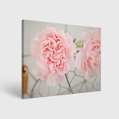 Холст прямоугольный  Фото 01, Розовый цветок