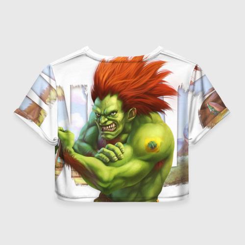 Женская футболка 3D укороченная  Фото 02, Strongman