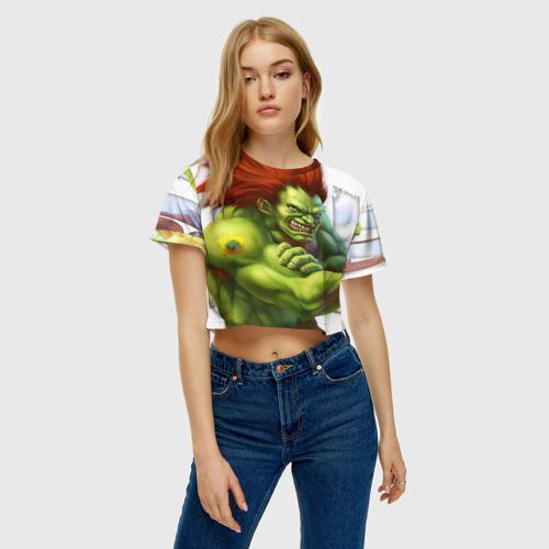 Женская футболка 3D укороченная  Фото 04, Strongman