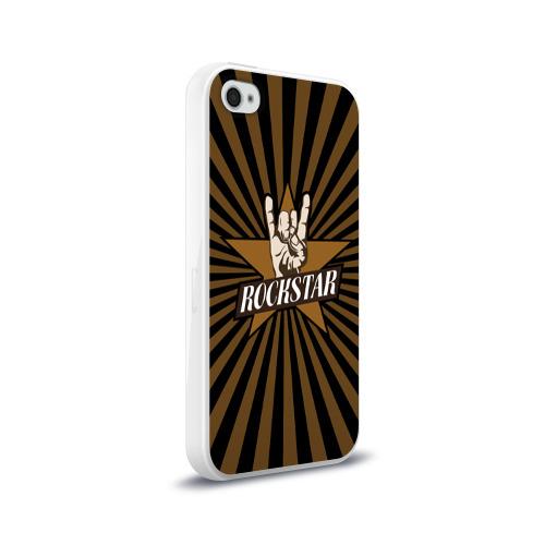 Чехол для Apple iPhone 4/4S силиконовый глянцевый  Фото 02, Rockstar