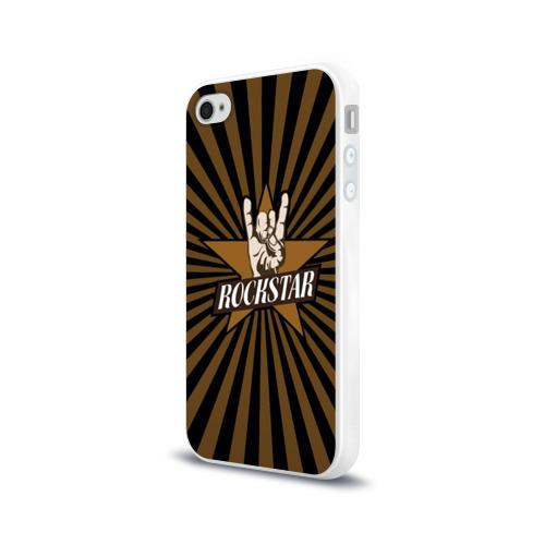 Чехол для Apple iPhone 4/4S силиконовый глянцевый  Фото 03, Rockstar
