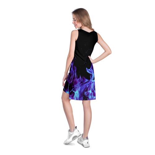 Платье-майка 3D  Фото 04, Синий огонь