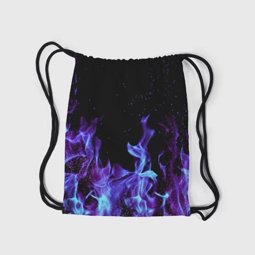 Рюкзак-мешок 3D Синий огонь Фото 01