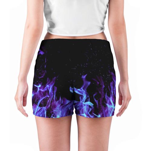 Женские шорты 3D  Фото 04, Синий огонь