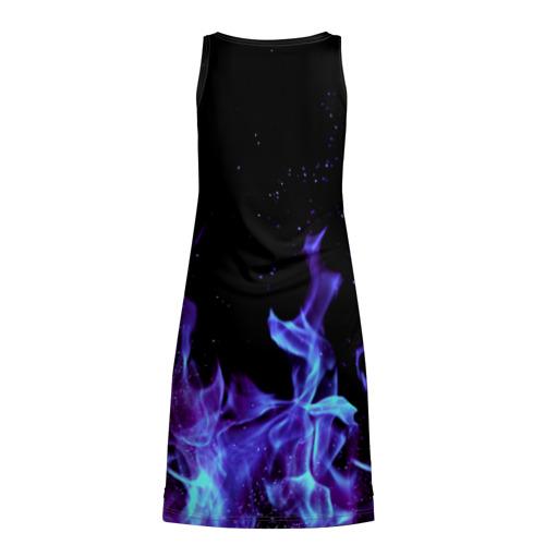 Платье-майка 3D  Фото 02, Синий огонь