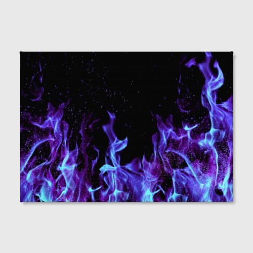 Холст прямоугольный Синий огонь Фото 01