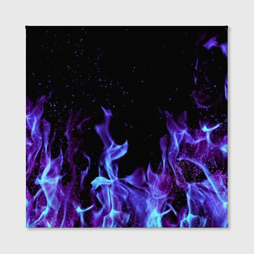 Холст квадратный Синий огонь Фото 01