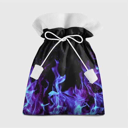 Подарочный 3D мешок Синий огонь Фото 01