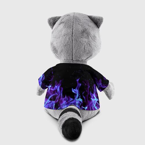 Енотик в футболке 3D Синий огонь Фото 01