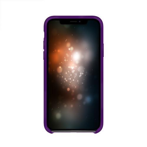 Чехол для Apple iPhone X силиконовый глянцевый Синий огонь Фото 01