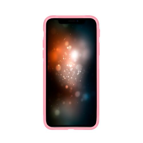 Чехол для Apple iPhone X силиконовый матовый Синий огонь Фото 01