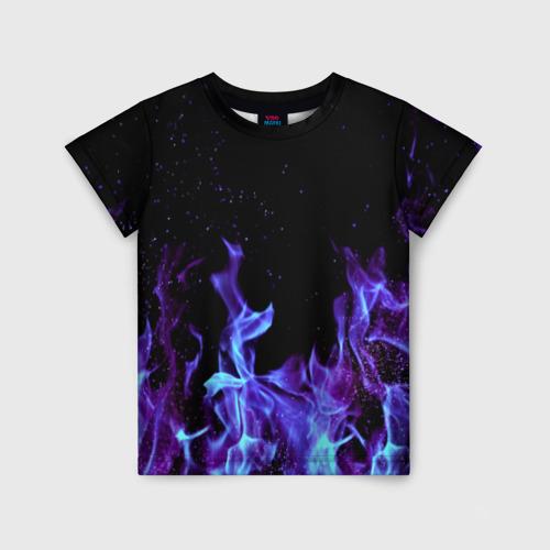 Детская футболка 3D Синий огонь Фото 01