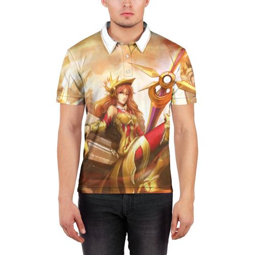 Мужская рубашка поло 3D Леона Фото 01