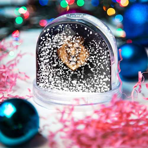 Водяной шар со снегом  Фото 04, Лев