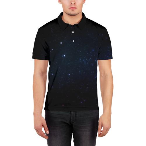 Мужская рубашка поло 3D  Фото 03, Deep Space