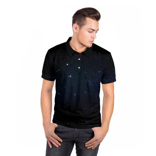 Мужская рубашка поло 3D  Фото 05, Deep Space