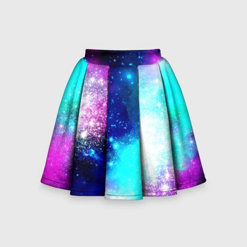 Детская юбка-солнце 3D Космические краски