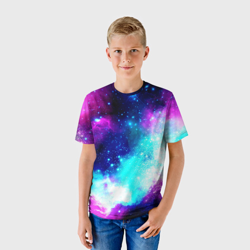 Детская футболка 3D Космические краски Фото 01