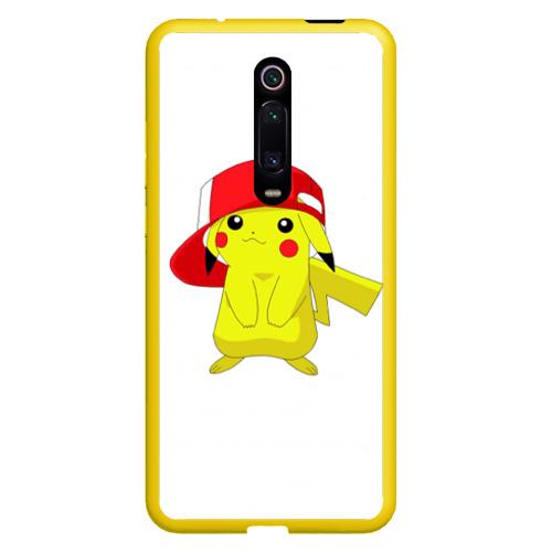 Чехол для Xiaomi Redmi Mi 9T Пикачу в кепке Фото 01