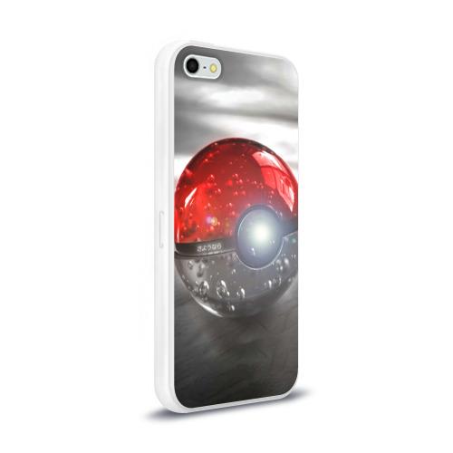 Чехол для iPhone 5/5S глянцевый Red and White Фото 01