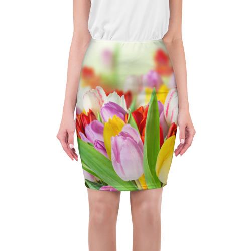 Юбка 3D  Фото 01, Мир тюльпанов