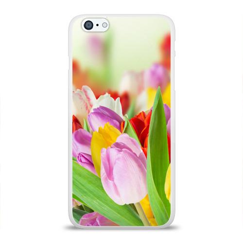 Чехол для Apple iPhone 6Plus/6SPlus силиконовый глянцевый  Фото 01, Мир тюльпанов