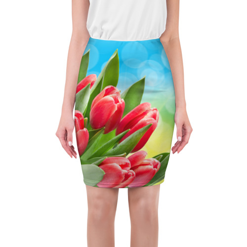 Юбка 3D Полевые тюльпаны