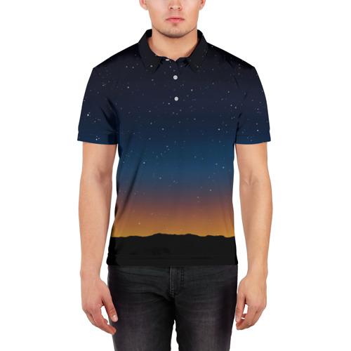Мужская рубашка поло 3D  Фото 03, Звездное небо