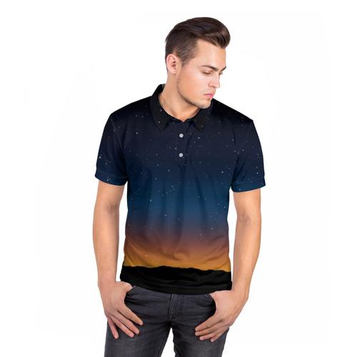 Мужская рубашка поло 3D  Фото 05, Звездное небо