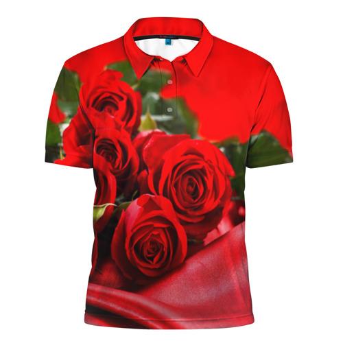 Мужская рубашка поло 3D Розы