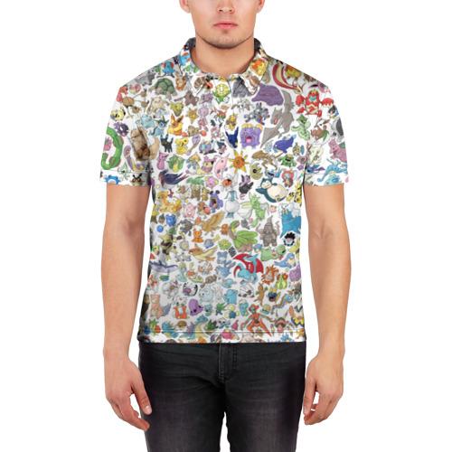 Мужская рубашка поло 3D  Фото 03, Pokemon
