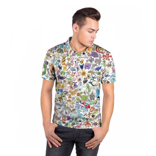 Мужская рубашка поло 3D  Фото 05, Pokemon