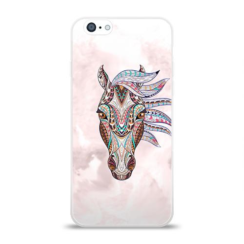 Чехол для Apple iPhone 6 силиконовый глянцевый  Фото 01, Конь 2