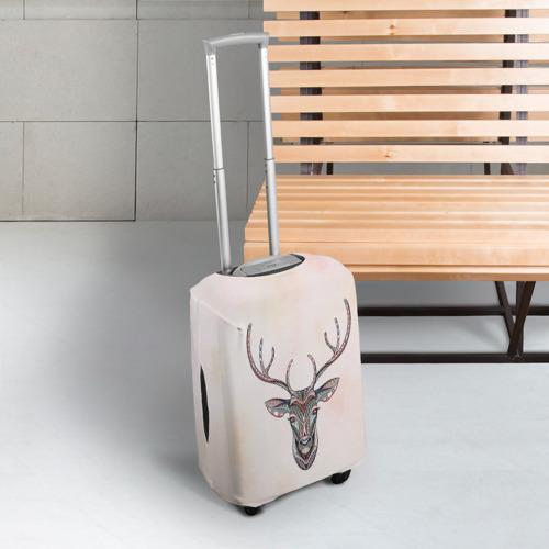 Чехол для чемодана 3D Олень Фото 01