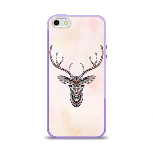 Чехол для Apple iPhone 5/5S силиконовый глянцевый Олень Фото 01