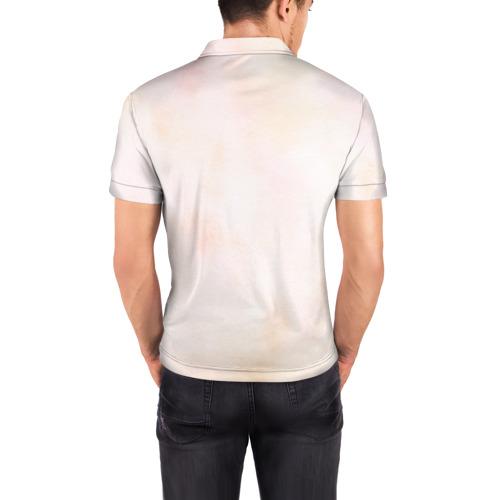 Мужская рубашка поло 3D Олень Фото 01