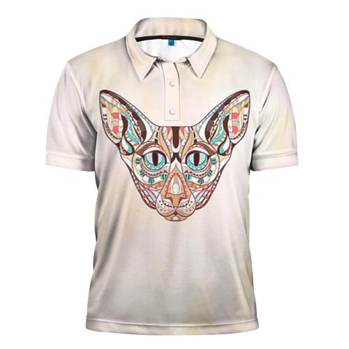 Мужская рубашка поло 3D  Фото 01, Кот