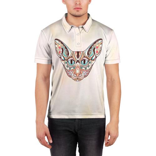 Мужская рубашка поло 3D  Фото 03, Кот
