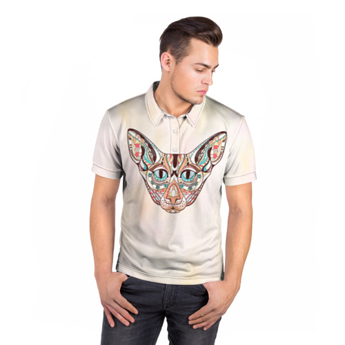 Мужская рубашка поло 3D  Фото 05, Кот