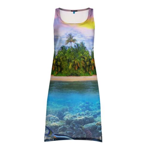 Платье-майка 3D Мальдивы