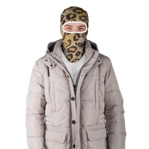 Балаклава 3D  Фото 03, Леопардовая ткань