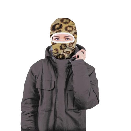 Балаклава 3D  Фото 04, Леопардовая ткань