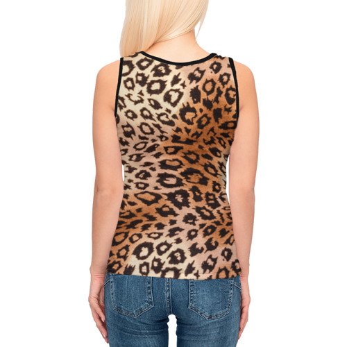 Женская майка 3D Леопардовая шкура Фото 01