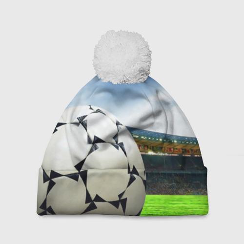 Шапка 3D c помпоном  Фото 01, Футбол